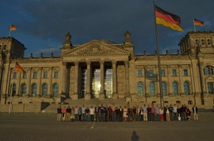 The GMAP March Class of 2013-14, in front of the Bundestag