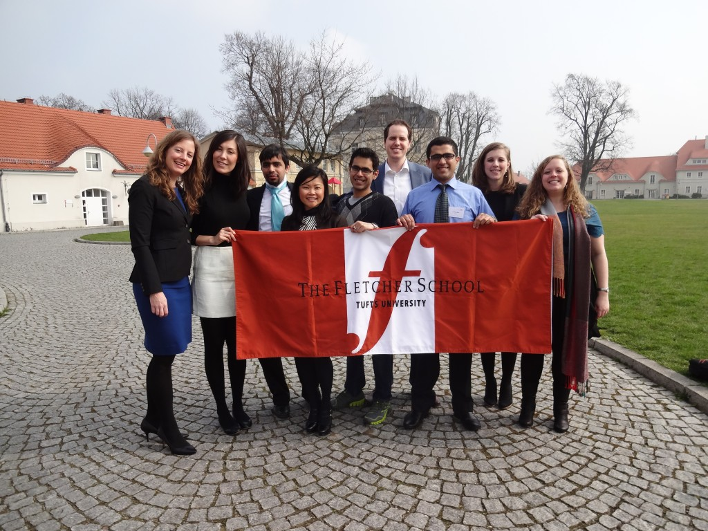 Poland group with flag