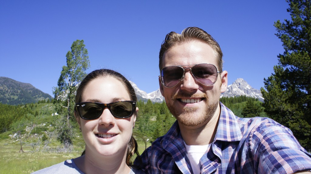 Diane and Dallin in Grand Teton National Park. Photo by Dallin Van Leuven, F15.