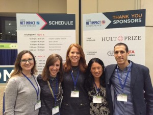 Ali (second from left) and Fletcher friends at the Net Impact conference.