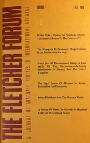 The first edition of The Fletcher Forum.