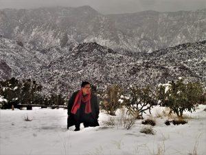 Carlo in the snow