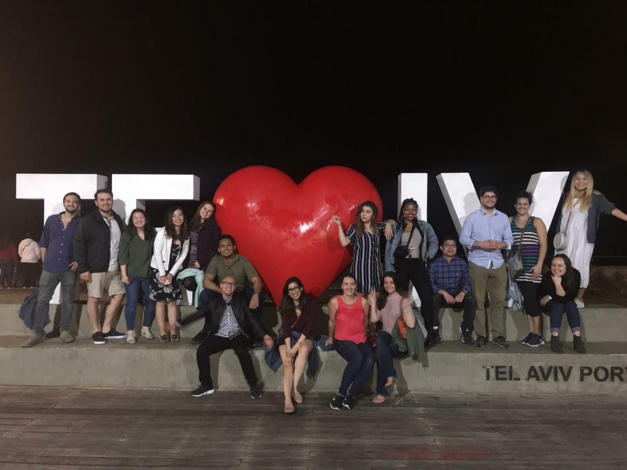 Fletcher students in Israel