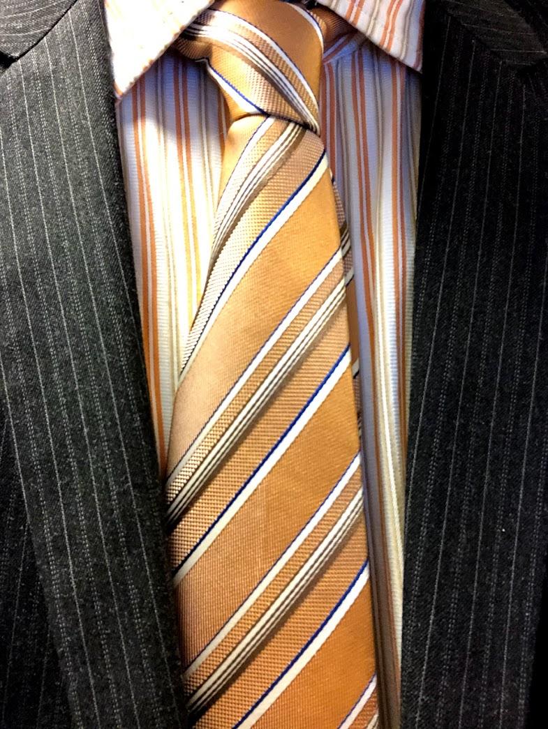 orange necktie