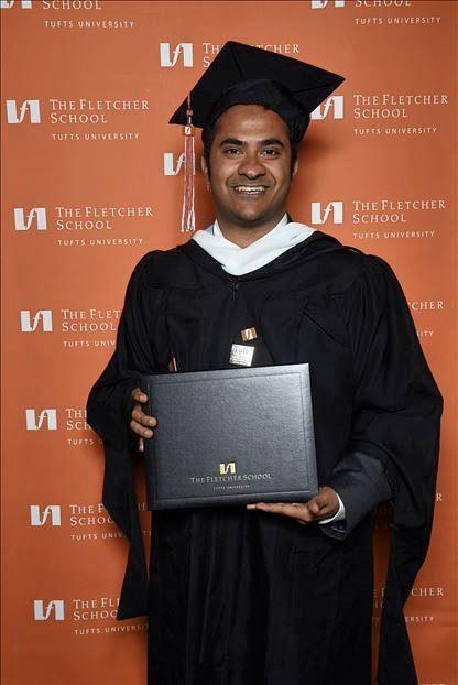 Akshobh with diploma