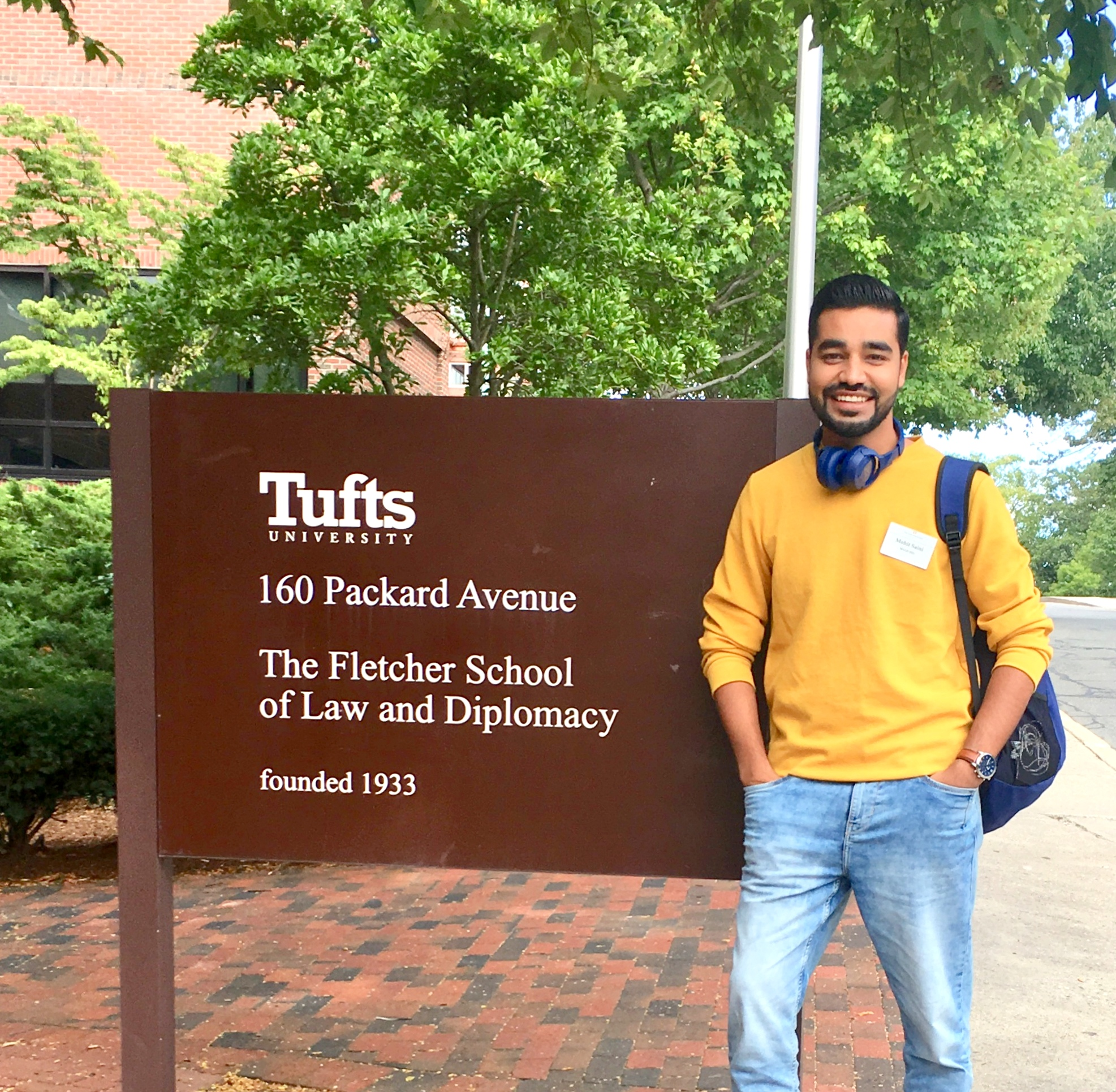 Fletcher student Mohit