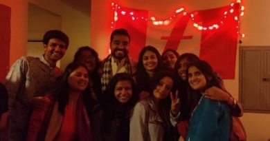 Diwali celebration with Fletcher students