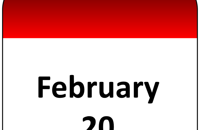 February 20 calendar
