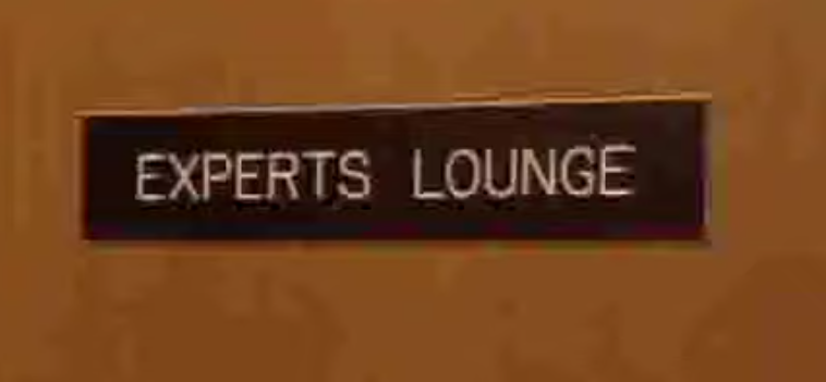 Experts Lounge sign