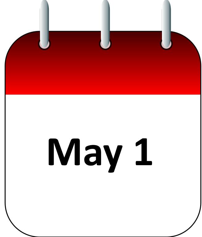 May 1 calendar