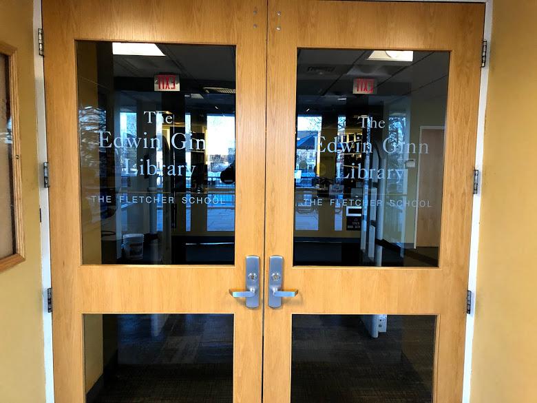 Ginn library doors