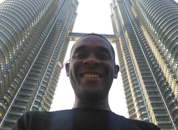 Henry Chambers at the Petronas Towers, Kuala Lumpur