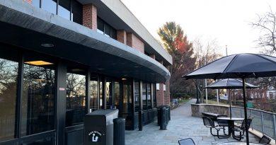 Ginn Library outdoor patio