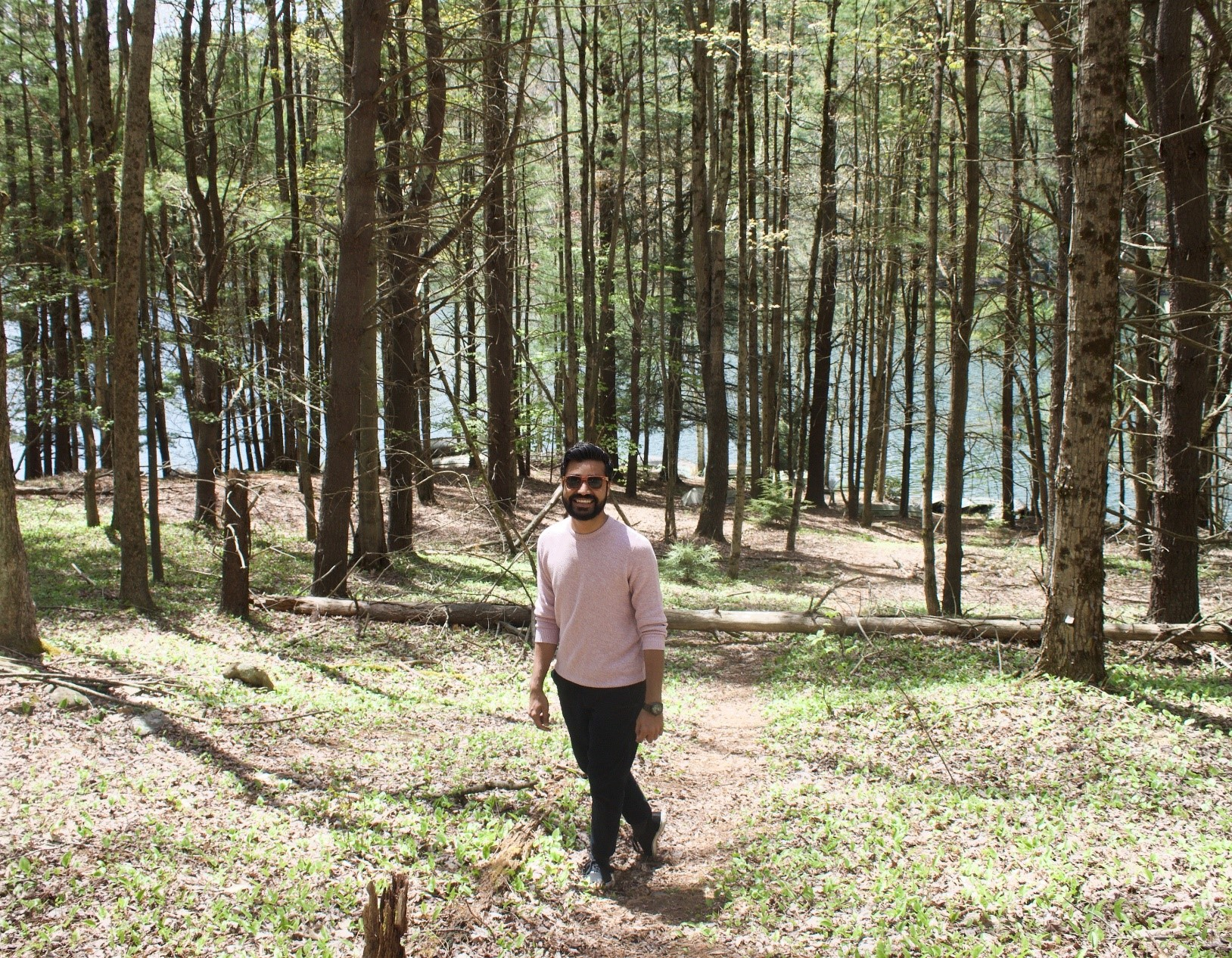 Mohit in the woods