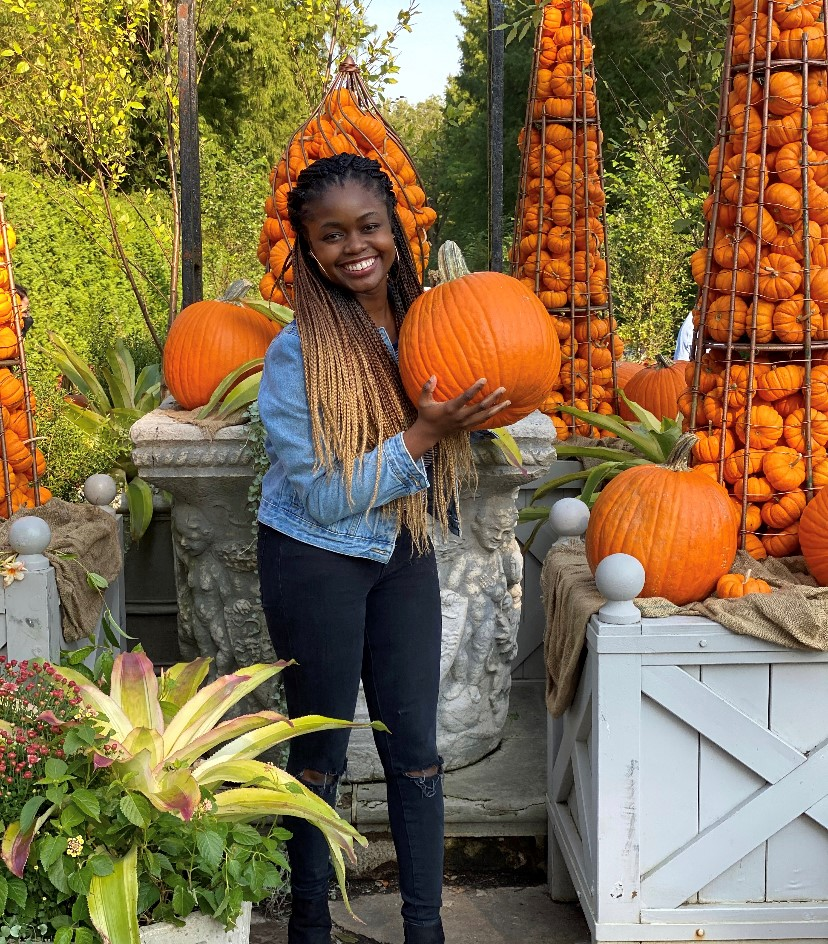 Princess with pumpkins