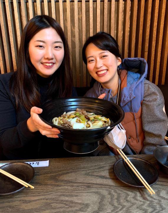 Kanako at dinner