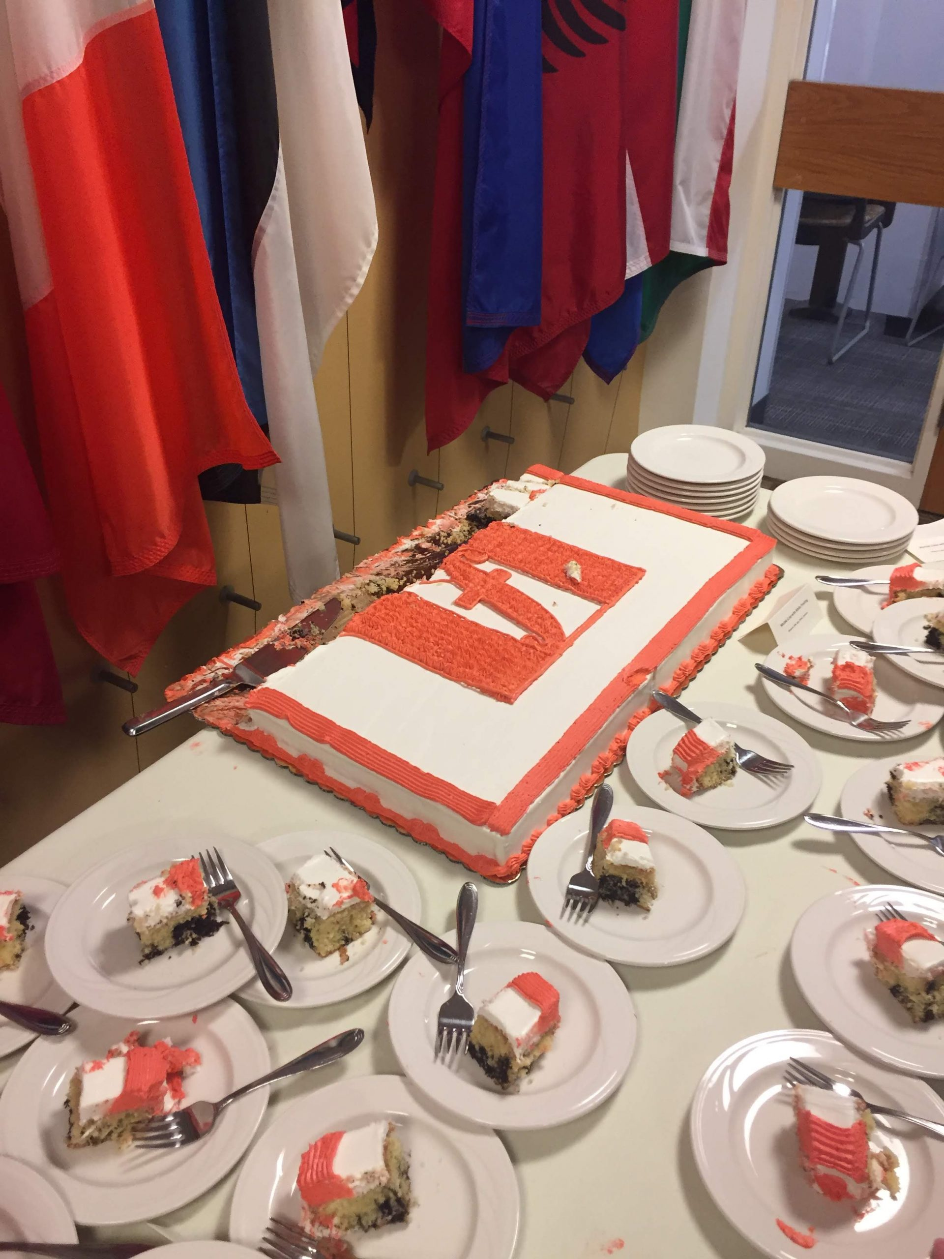 Fletcher flag logo cake