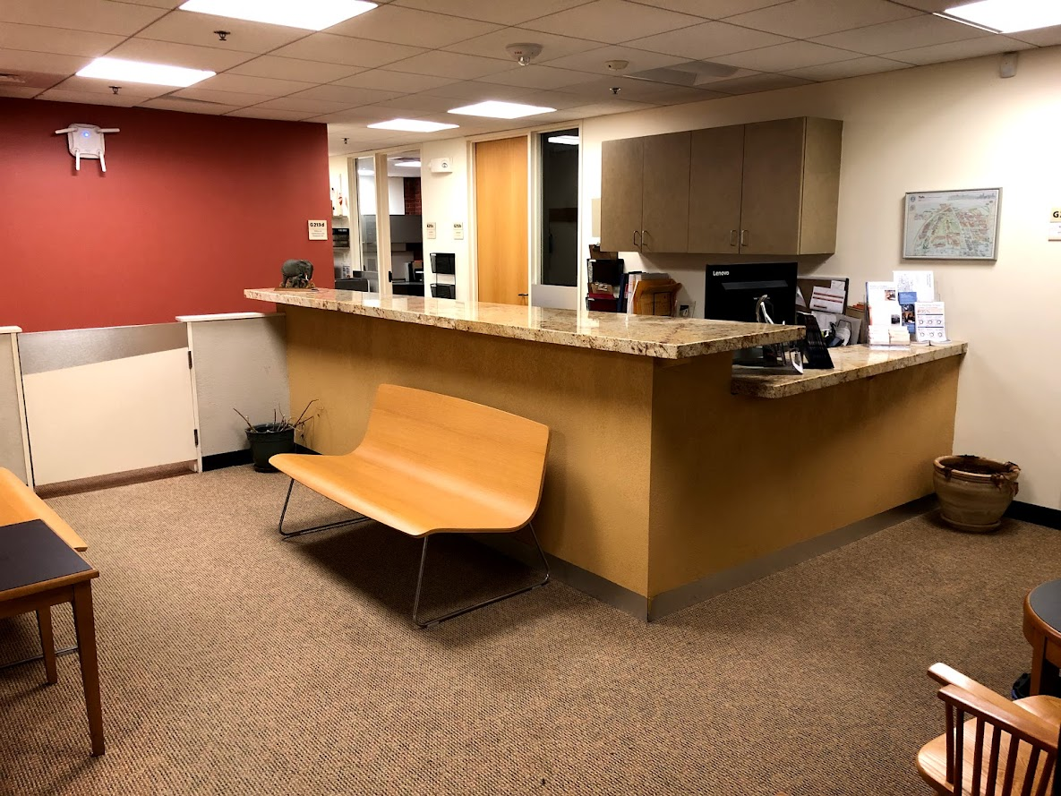 Admissions office lobby