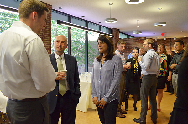 Dean Stavridis meets with students at The Fletcher School.