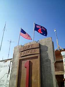 Red Sox Flag Flying in Afghanistan. Photo Courtesy: Prof. Richard Shultz