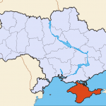 Crimea is a semi-autonomous region of Ukraine. Crimea is shaded in red. (Map: Wikipedia)