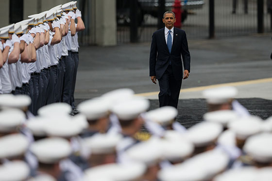 President Obama Speaks at West Point's U.S. Military Academy's Graduation and Commissioning Ceremony. (U.S. Army photo by Sgt. 1st Class Christopher Fincham)