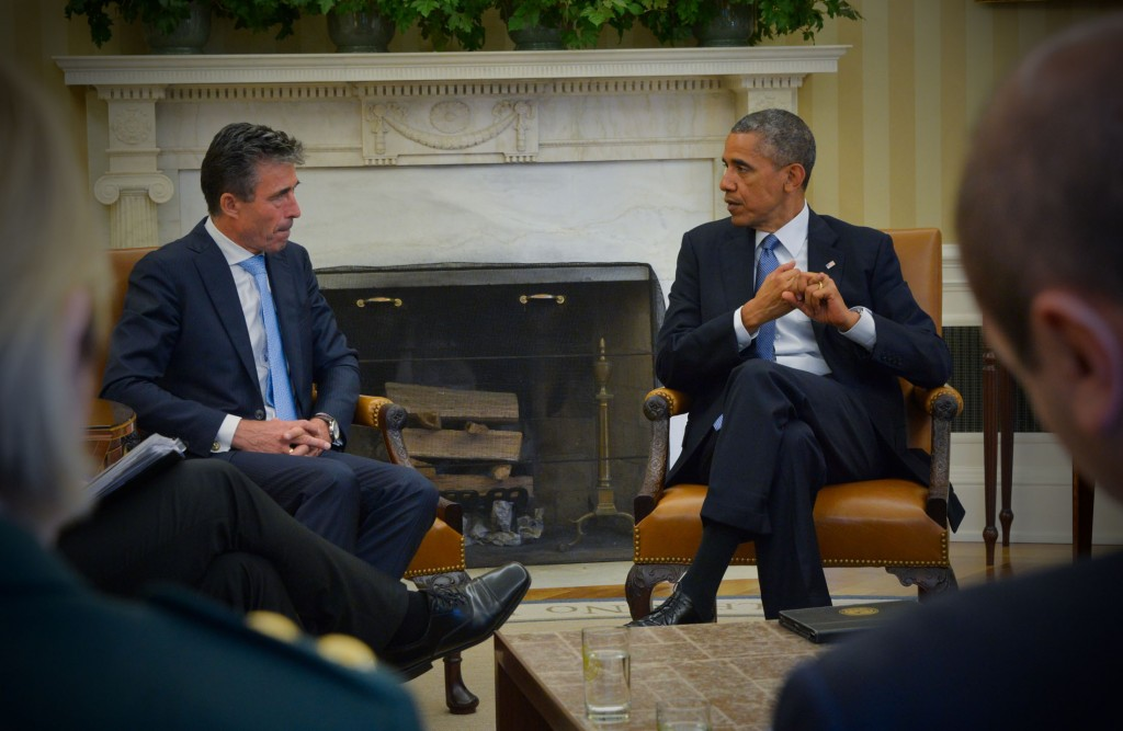 NATO Secretary General Anders Fogh Rasmussen and US President Barack Obama at the White House. Photo: NATO