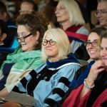 09/09/2016 - Medford, MA - The Fletcher School kicked off the academic year on September 9th, 2016, with the Annual Academic Convocation. Dean Stavridis hosted the event which included awards presentations and remarks from students, alumni, and faculty and honored Ambassador Jacobson F86 A19P. (Ian MacLellan for Tufts University)