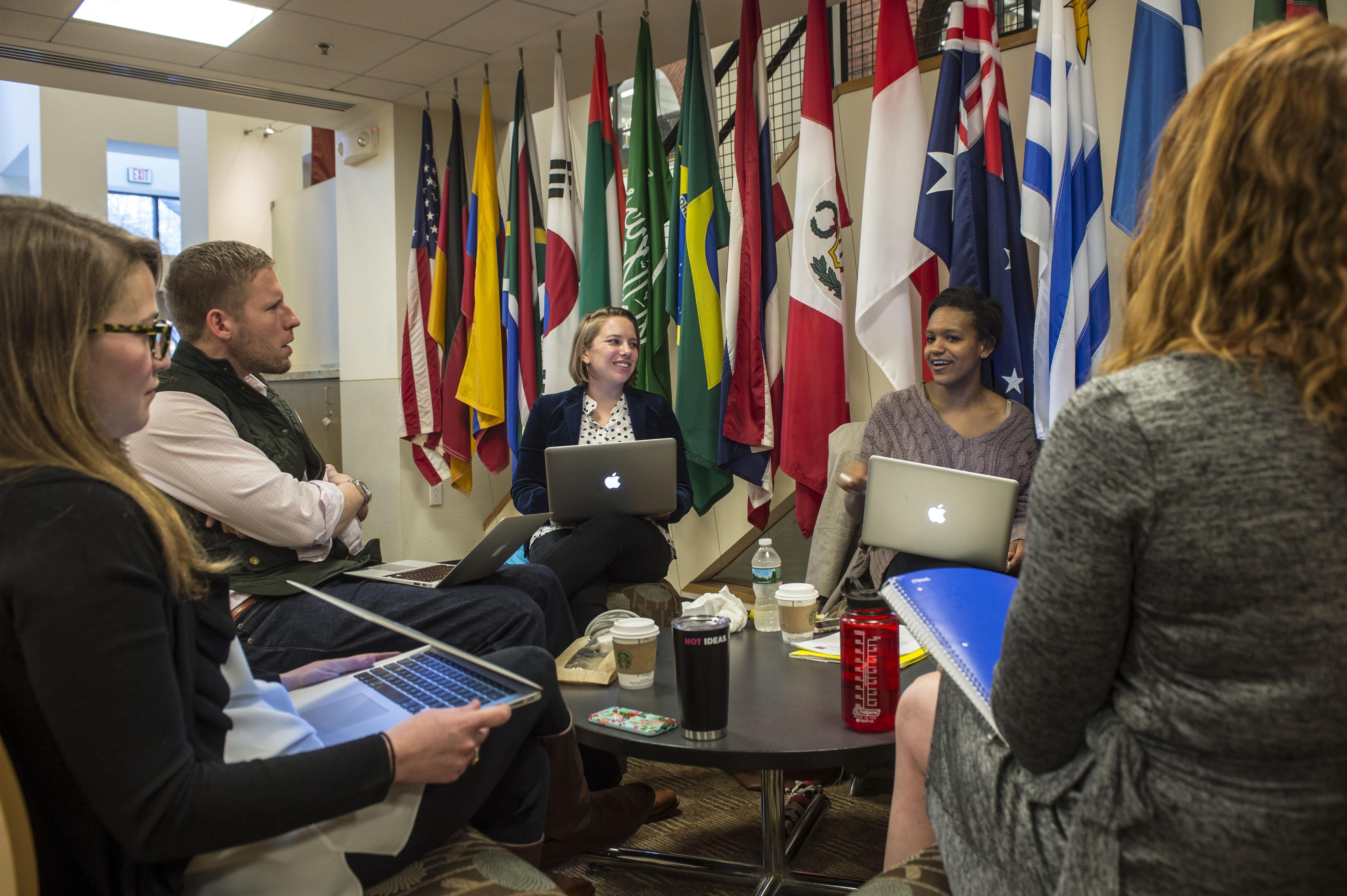 Master of International Business students in Cabot Hall