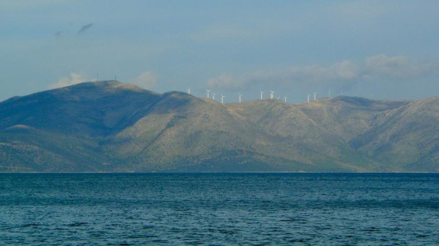 Wind Turbines on Mountain Top
