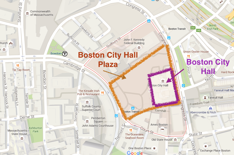 1. Boston City Hall Piaza
