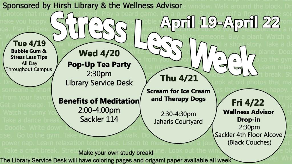 stresslessweek infoscreen