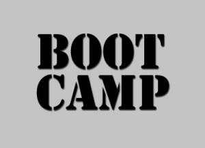 Small rectangle with the word Boot Camp