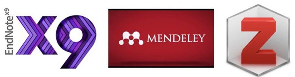 Citation Manager Logos: EndNote, Mendeley, Zotero