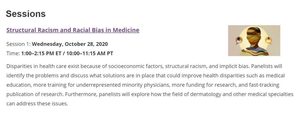 Race and Medicine webinar