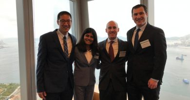 Fletcher MIB Students pose at Kellogg-Morgan Stanley Competition 2019