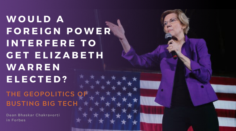 Elizabeth Warren Big Tech Breakup Political Interference