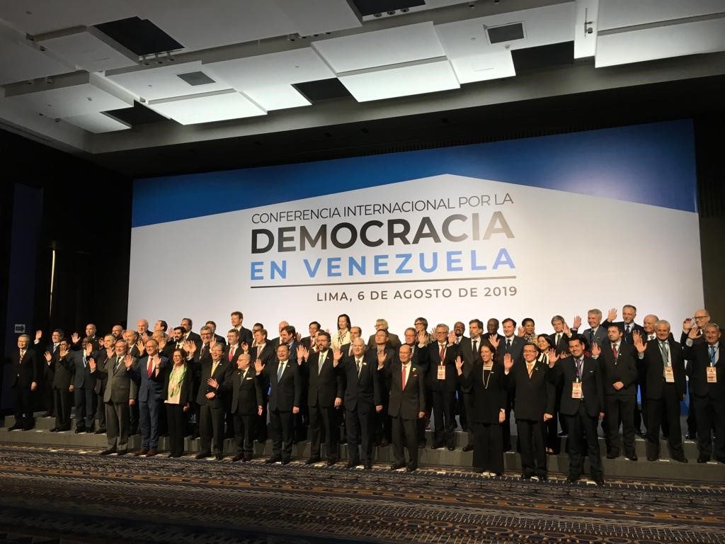 International Conference for the Democracy of Venezuela in Lima, Peru.