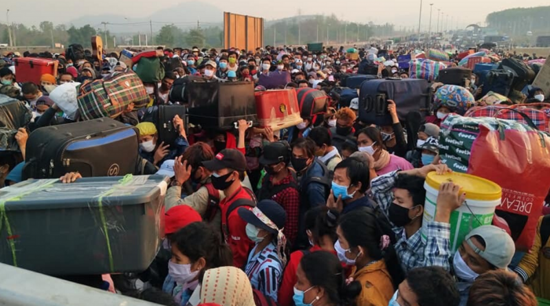Immigrants gather in crowd during COVID-19 Pandemic