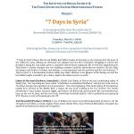 "Documentary Film Screening: ""7 Days in Syria"""