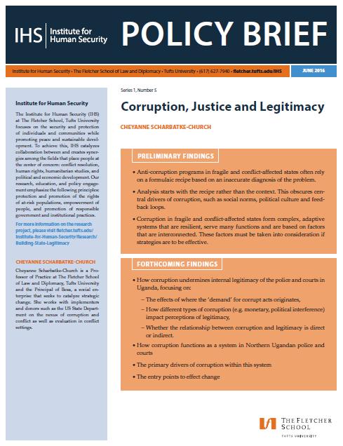 Corruption, Justice and Legitimacy