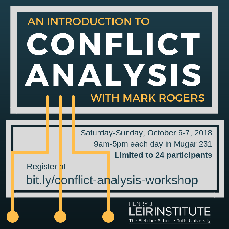 Conflict Analysis Workshop