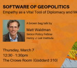 Software of Geopolitics: Empathy as a Vital Tool of Diplomacy and Mediation