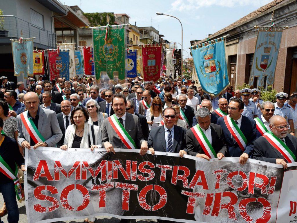 Avviso Pubblico march against mafia violence