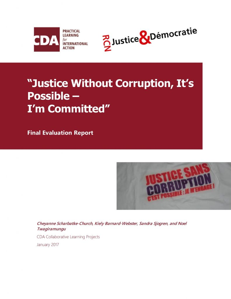 """""""Justice Without Corruption, It's Possible – I'm Committed"""""""