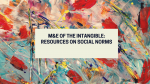 M&E of the Intangible: Resources on Social Norms