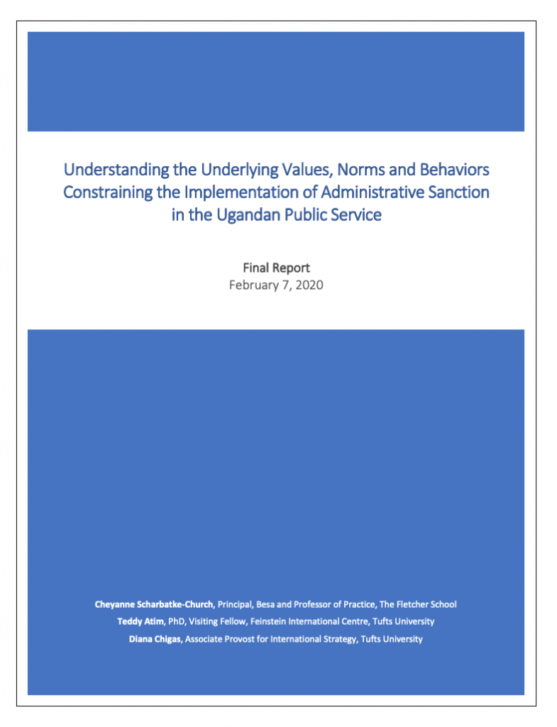 Understanding the Underlying Values, Norms and Behaviors Constraining the Implementation of Administrative Sanction in the Ugandan Public Service