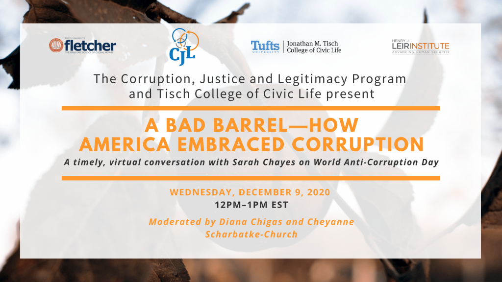 A Bad Barrel – How America Embraced Corruption: A Conversation with Sarah Chayes