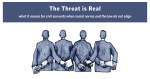 The Threat is Real: what it means for civil servants when social norms and the law do not align