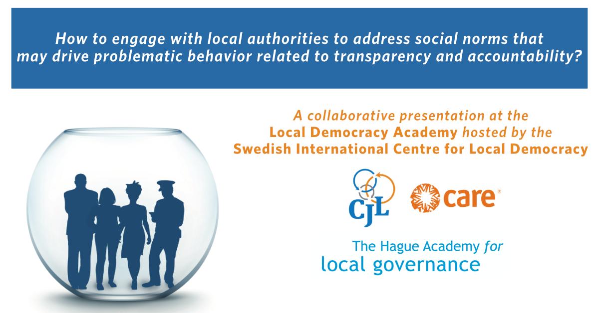 CJL Presents at Swedish International Center for Local Democracy